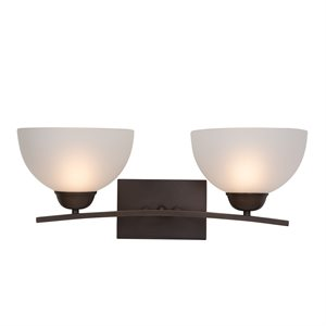 Alta Peak Collection 2-Light Vanity in Coffee