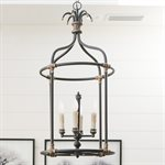 4-Light Lantern with Rustic Black Finish
