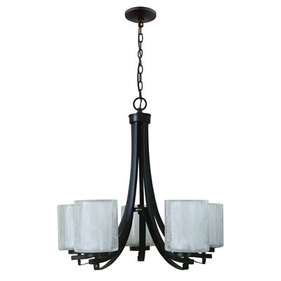 5-Light Chandelier in Oil Rubbed Bronze Finish