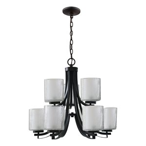 9-Light Chandelier in Oil Rubbed Bronze Finish