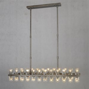 48 Light Chandelier in Iron Gray Finish