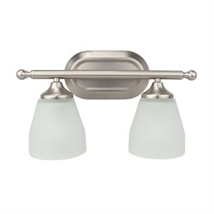 2 Light Vanity in Satin Nickel Finish