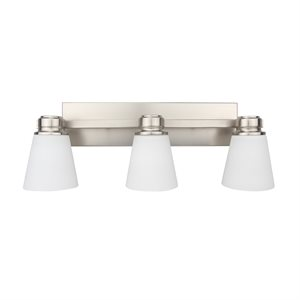 3 Light Vanity in Satin Nickel Finish