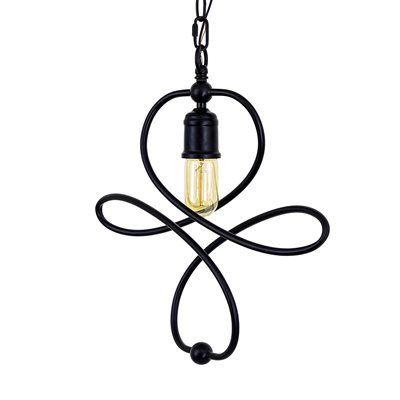 1 Light Pendant in Matte Black Finish