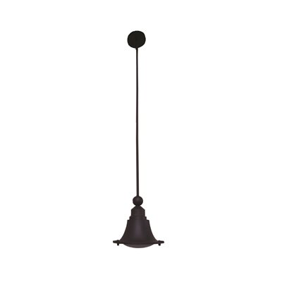 1 Light Pendant in Ebony Bronze Finish