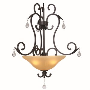 Vantage  Lighting  Collection Three Light Pendant
