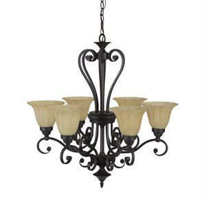 Florence  Lighting  Collection Six Light Chandelie
