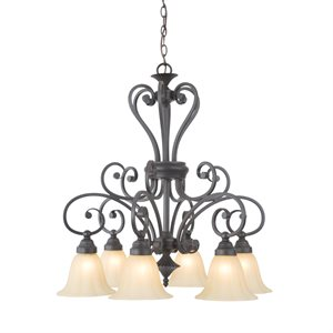 Florence Collection Six Light Chandelier
