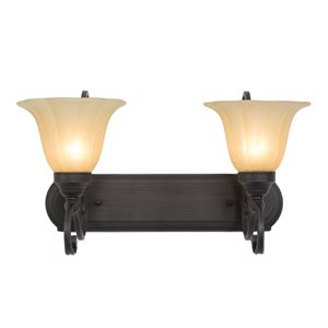 Florence  Lighting  Collection Two Light Vanity
