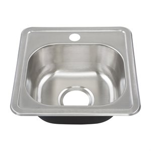 Topmount Single Bowl