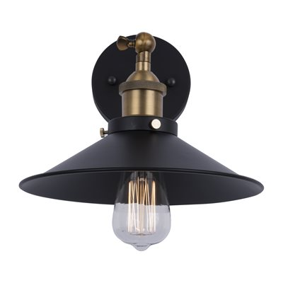 1 Light Wall Sconce in Dark Grey Finish