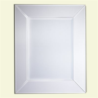 Mirror with Clear Glass Frame