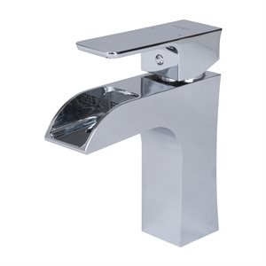Single handle lavatory faucet polished chrome